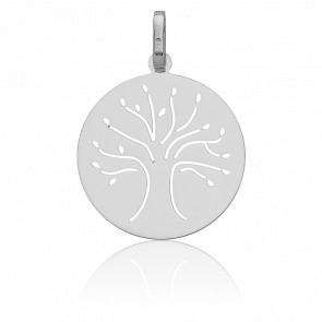 Médaille Arbre de vie ajouré, Or blanc 18K - Vandona