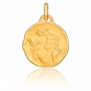 Médaille Saint Christophe, Or jaune 18K - Vandona