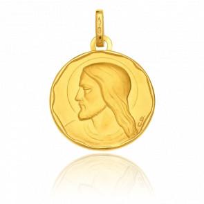 Médaille Ronde Christ, Or jaune 18K - Vandona