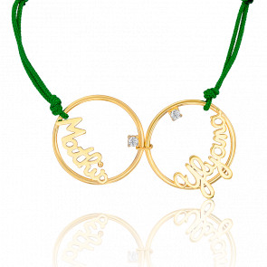 Bracelet 2 prénoms, Or jaune 9K - Scarlett Or Scarlett