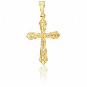 Croix à motif, Or jaune 9K  - Vandona