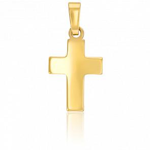Croix bombée, Or jaune 9K - Vandona