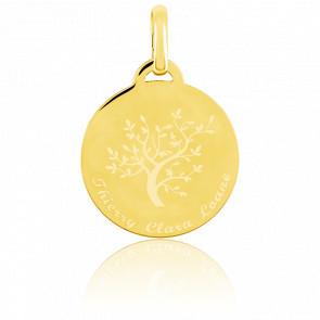 Médaille Arbre de vie Gravable, Or jaune - Bambins