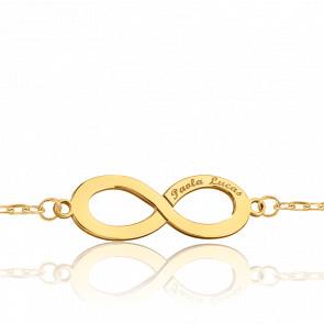 Bracelet Forçat marine infini gravable, Or jaune - Bambins