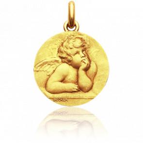 Médaille Ange Raphaël, Or jaune 18K - Becker