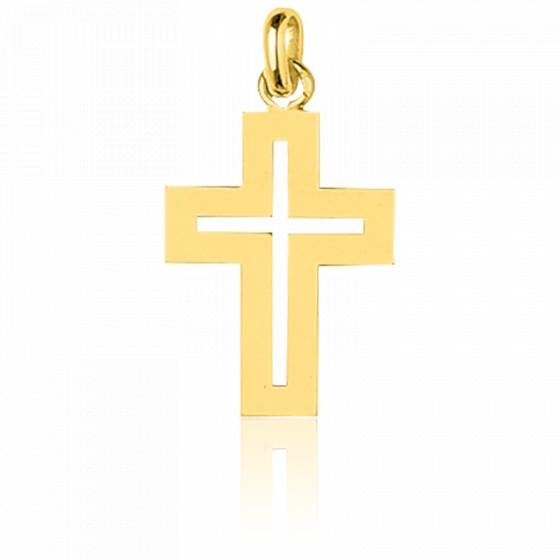 Croix ajourée, Or jaune 18 carats - Emanessence