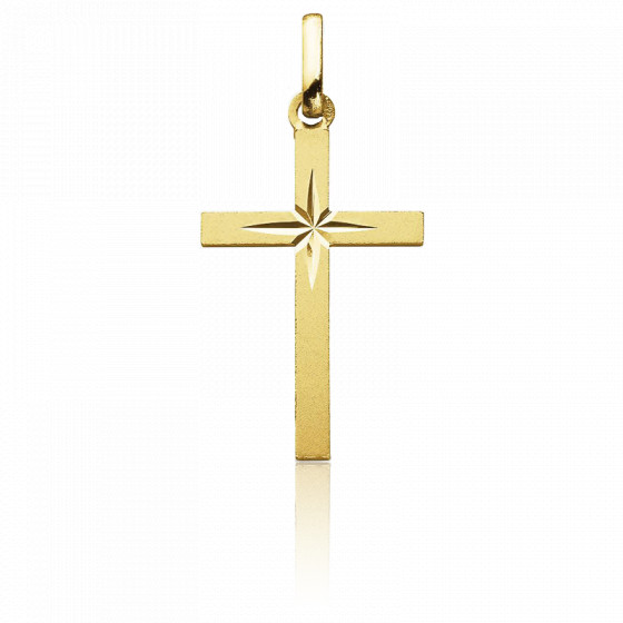 Croix étoilée, Or jaune 18K - Augis