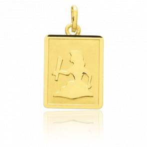 Pendentif zodiaque vierge, Or jaune 18K - Emanessence