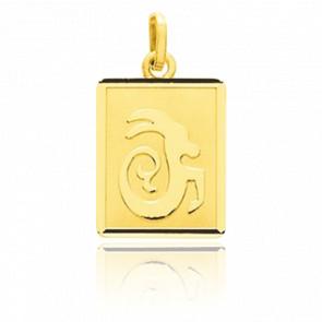 Pendentif zodiaque capricorne, Or jaune 18K - Emanessence