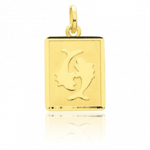 Pendentif zodiaque poisson, Or jaune 18K - Emanessence