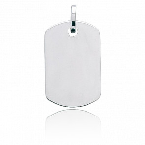Plaque tonneau personnalisable, Or blanc 9 ou 18K - Emanessence