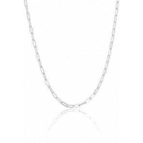 Chaine Maille Rectangle allongée, Argent, Largeur 2,50 mm - Manillon