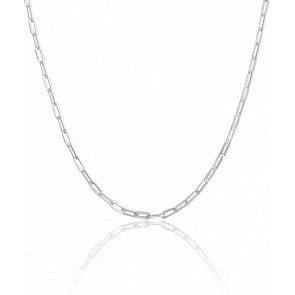 Chaine Maille Rectangle, Argent, Largeur 3,5 mm - Manillon