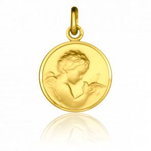 Médaille Ange à la Colombe, Or jaune 9K - Pichard-Balme