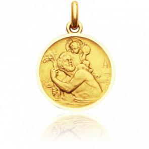 Médaille Saint Christophe, Or jaune 18K - Becker