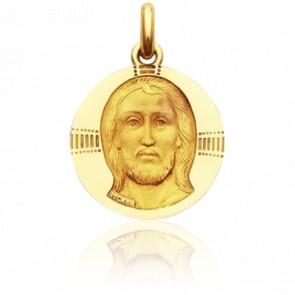 Médaille Christ Byzantin, Or Jaune 18K - Becker