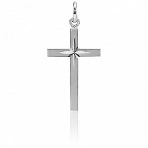 Croix étoilée, Or blanc 18K - Augis