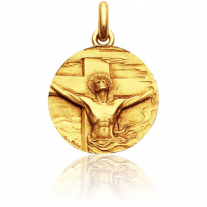 Médaille Christ Rédemption, Or Jaune 18K - Becker