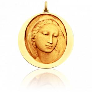 Médaille Vierge Florentine, Or jaune 18K - Becker