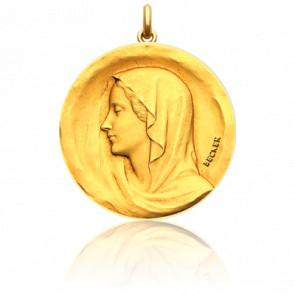 Médaille Vierge Regina, Or jaune 18 carats - Becker