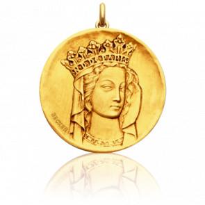 Médaille Vierge Notre Dame, Or jaune 18K - Becker
