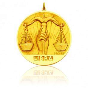 Médaille signe du zodiaque balance, Or jaune 18K - Becker