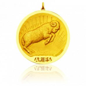 Médaille signe du zodiaque bélier, Or jaune 18K - Becker