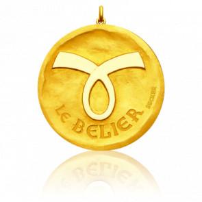 Pendentif Signe Astrologique Bélier, Or jaune 18K - Becker