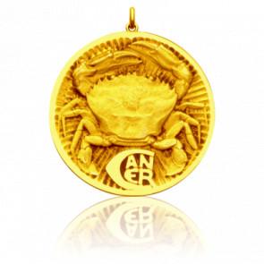 Médaille signe du zodiaque cancer, Or jaune 18K - Becker