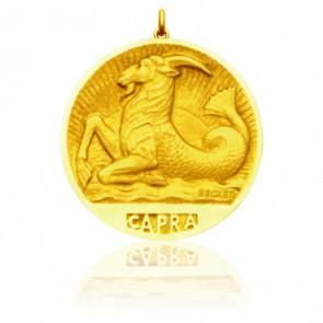 Médaille signe du zodiaque capricorne, Or jaune 18K - Becker