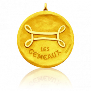 Pendentif Signe Astrologique Gémeaux, Or jaune 18K - Becker