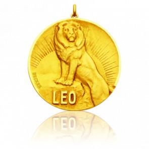 Médaille signe du zodiaque lion, Or jaune 18K - Becker