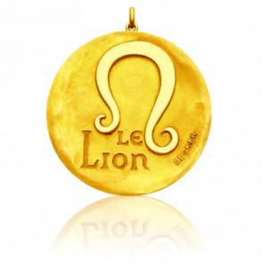 Pendentif Signe Astrologique Lion, Or jaune 18K - Becker