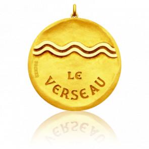 Pendentif Signe Astrologique Verseau, Or jaune 18K - Becker