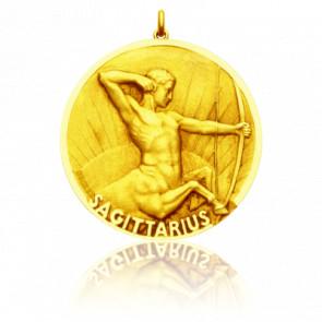 Médaille signe du zodiaque sagittaire, Or jaune 18K - Becker