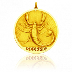Médaille signe du zodiaque scorpion, Or jaune 18K - Becker