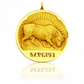 Médaille signe du zodiaque taureau, Or jaune 18K - Becker