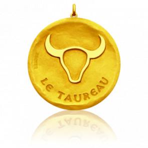 Pendentif Signe Astrologique Taureau, Or jaune 18K - Becker