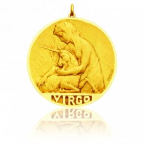 Médaille signe du zodiaque vierge, Or jaune 18K - Becker