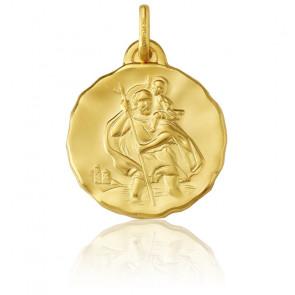 Médaille Saint Christophe, Or jaune 18K - Argyor