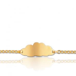 Gourmette bébé nuage, Or jaune 18K - Lucas Lucor