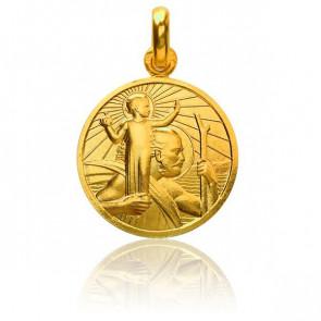 Médaille Saint Christophe, Or jaune 18K - Monnaie de Paris