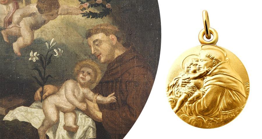 M/édaille Saint-Antoine de Padoue Les M/édailles des Saints Patrons